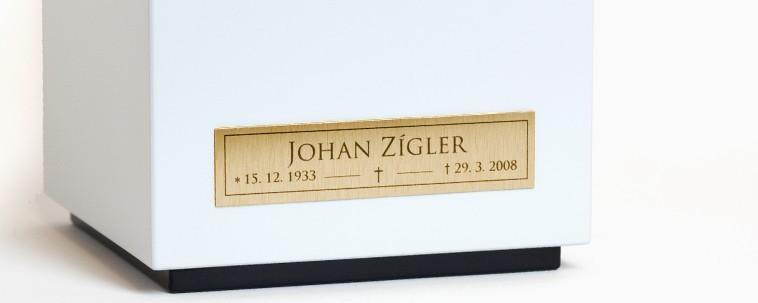 Nameplates - longitudional, gold